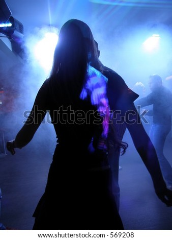 Girl from the club - stock photo