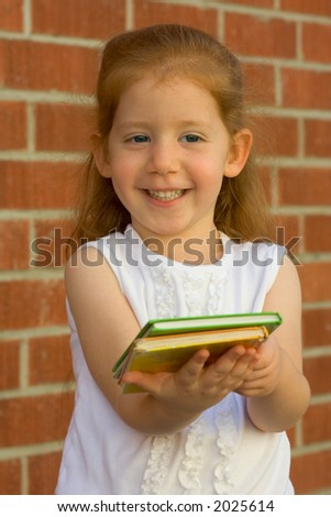 Girl gives you a book