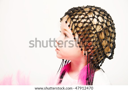 Girl going to carnival - stock photo