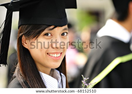 girl graduation - stock photo