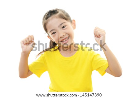 Girl happy expression - stock photo