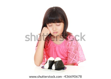 Girl has no appetite - stock photo