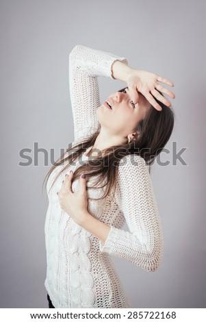 girl, hurts the heart - stock photo