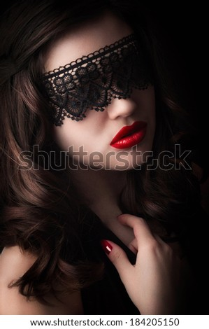 girl in a black mask