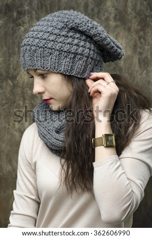 girl in a cap