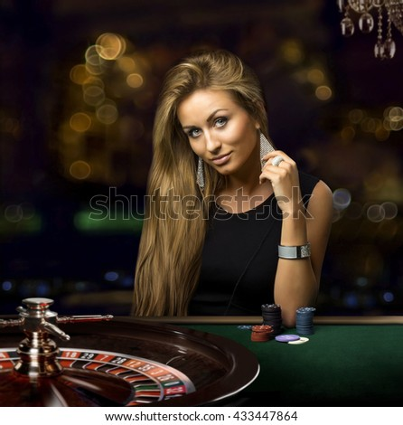 girl in a casino