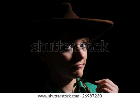Girl in a cowboy's hat