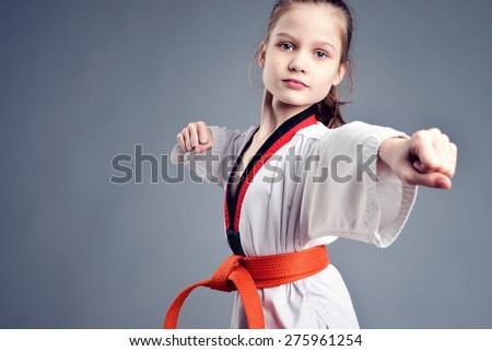 Girl in a kimono - stock photo
