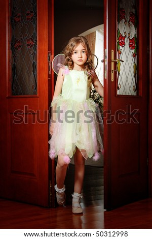 Girl in costume of fairy