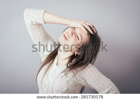 girl in despair - stock photo