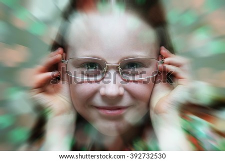 Girl in glasses.