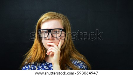 girl in glasses, student