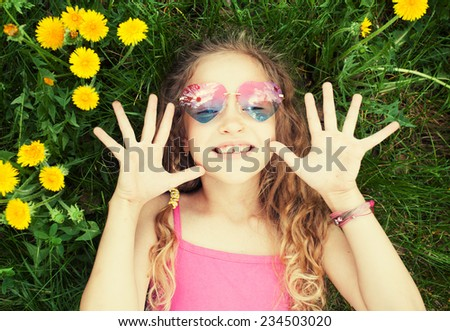 Girl in summer - stock photo