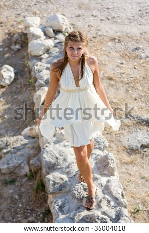 Girl in the Greek style