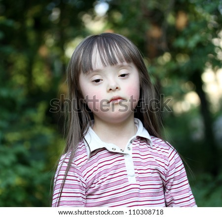 Girl in the park. - stock photo
