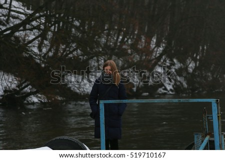 girl in the winter wood