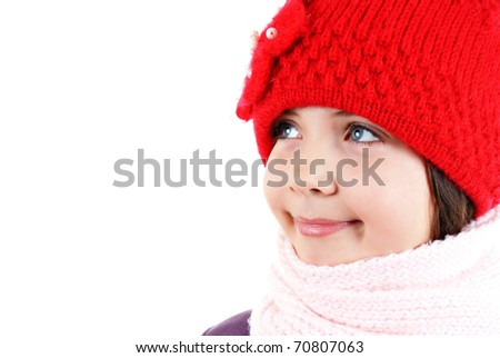Girl in winter clothes - stock photo