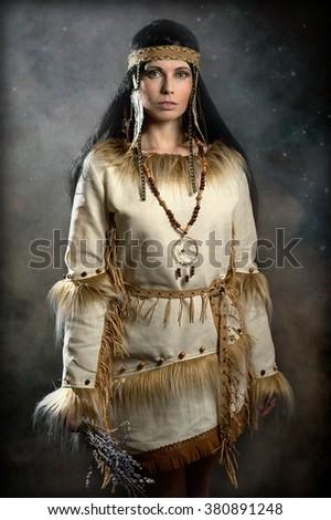 Girl Indian - stock photo