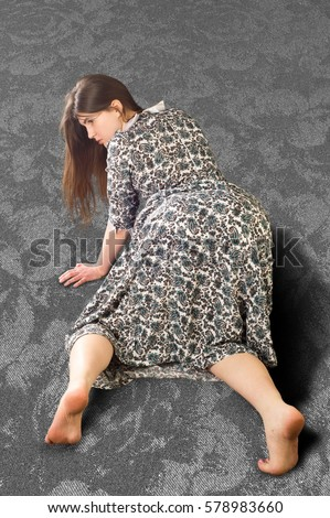 Girl Is On All Fours Stock Images Royalty Free Images