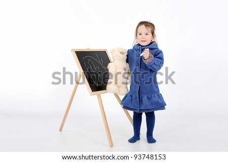 girl near presentation board