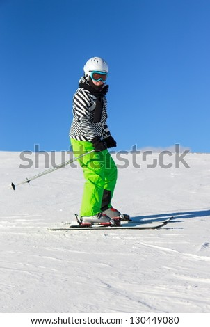 Girl on the ski