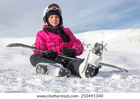 Girl on the snow