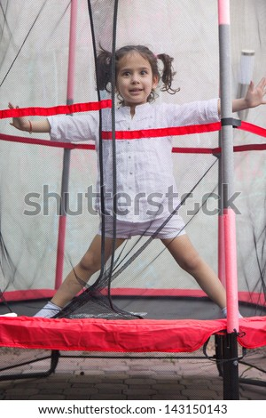 Girl on the trampoline