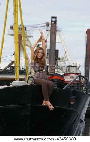 girl on the yacht