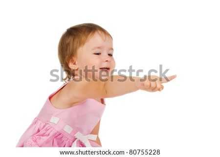 girl points a finger
