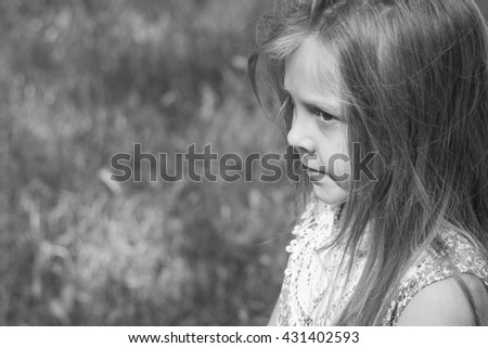 Girl portrait in nature