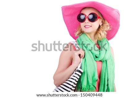 Girl preparing for summer vacation