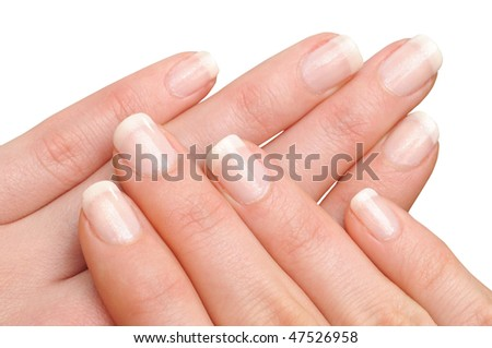 Girl's hands with perfect nail manicure