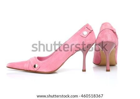 girl shoe in white background