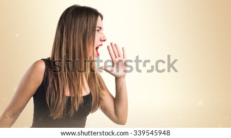 Girl shouting