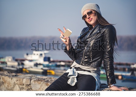 Girl showing attitude - stock photo