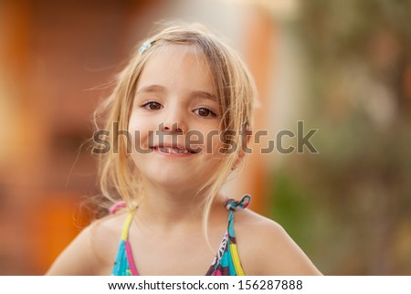 Girl smiling - stock photo