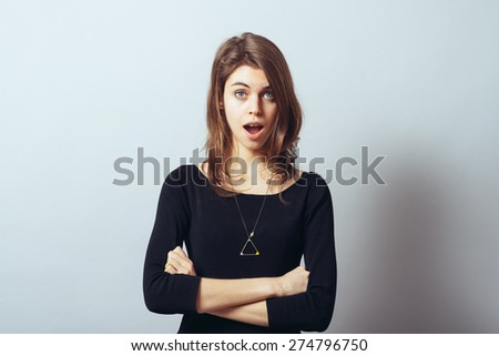 girl surprised - stock photo