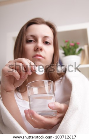 girl takes the pill