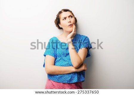 girl, toothache - stock photo