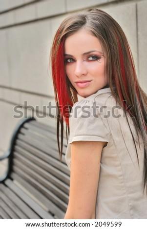 girl waiting - stock photo