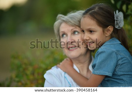 girl walking with the girl in autumn - stock photo