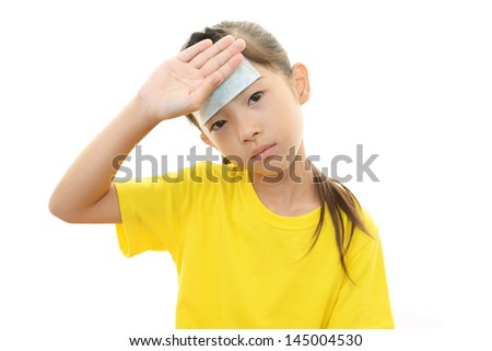 Girl with a bad cold - stock photo