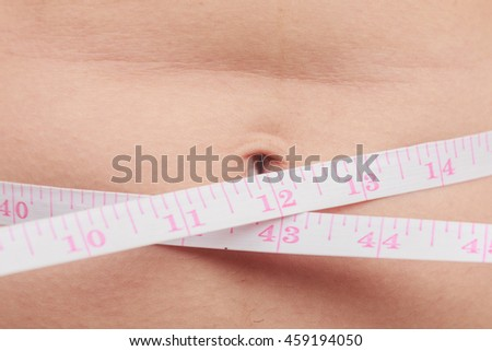girl with a cellulitis on a stomach