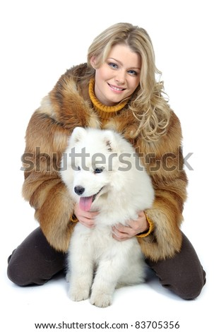 girl with a dogs