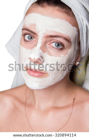 girl with a mask for skin face