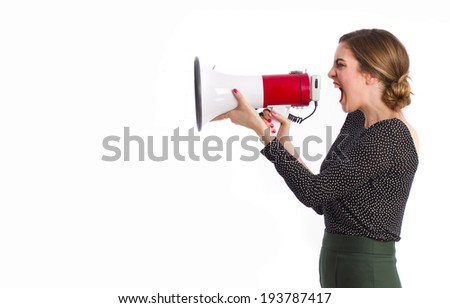 Girl with a megaphone