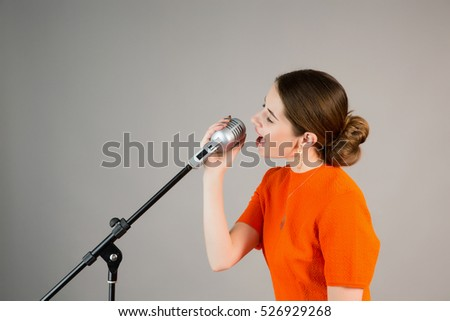 Girl with a microphone