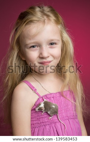 Girl with a mouse