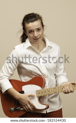 Girl with a Red Guitar