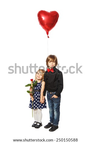 Little girl propose love stock photos images pictures - Boy propose girl with rose image ...